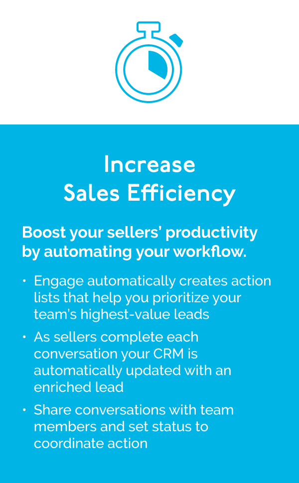 Increase Sales Efficiency with Sales Edge Engage for Automotive Dealers