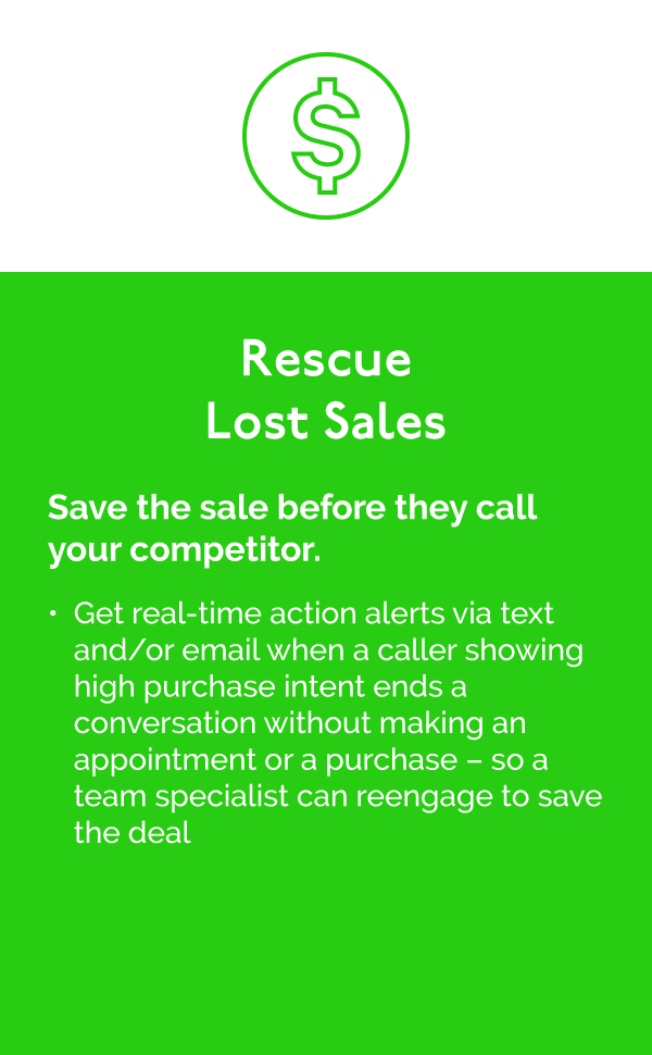 Rescue Lost Sales with Sales Edge Engage for Automotive Dealers